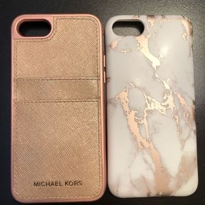 BUNDLE 2 iPhone 8 Rose Gold Phone Cases